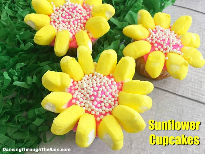 Adorable Easter Treats - flower cupcakes - Press Print Party!