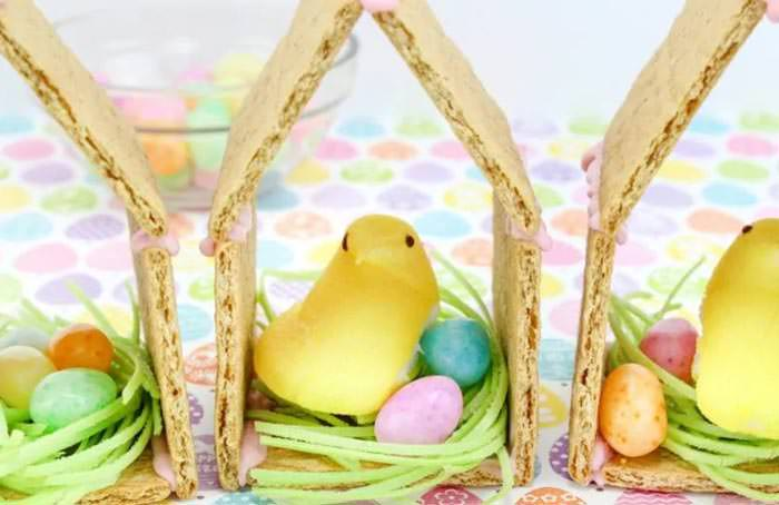 Adorable Easter Treats - peep chick house - Press Print Party!