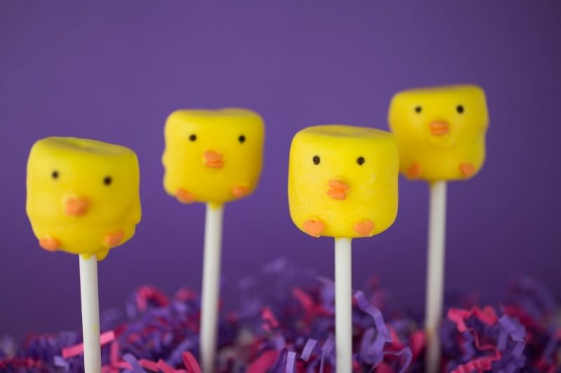 Adorable Easter Treats - Chick marshmallows - Press Print Party!