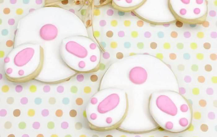 Adorable Easter Treats -bunny butt cookies - Press Print Party!