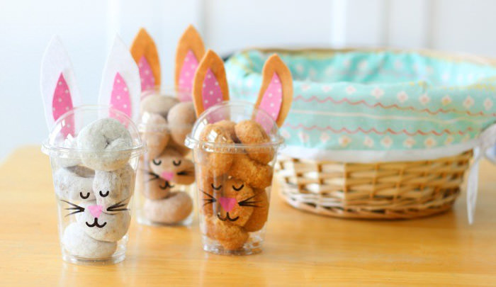Adorable Easter Treats - donut bunny cups - Press Print Party!