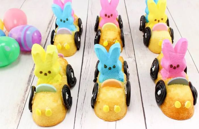 Adorable Easter Treats -bunny peeps in cars - Press Print Party!