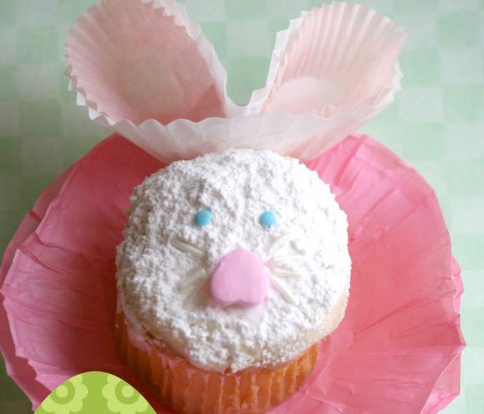 Adorable Easter Treats - bunny cupcake - Press Print Party!