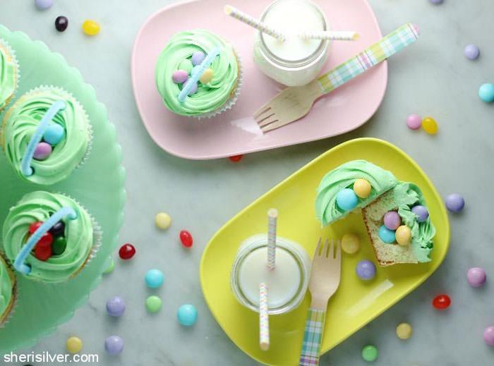 Adorable Easter Treats - Nest cupcakes - Press Print Party!