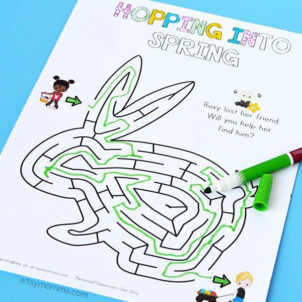 Easter free printable maze