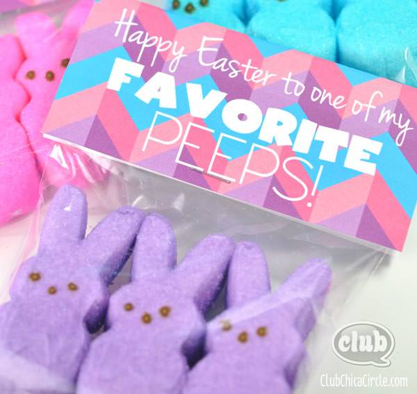 Easter free printable treat bag topper