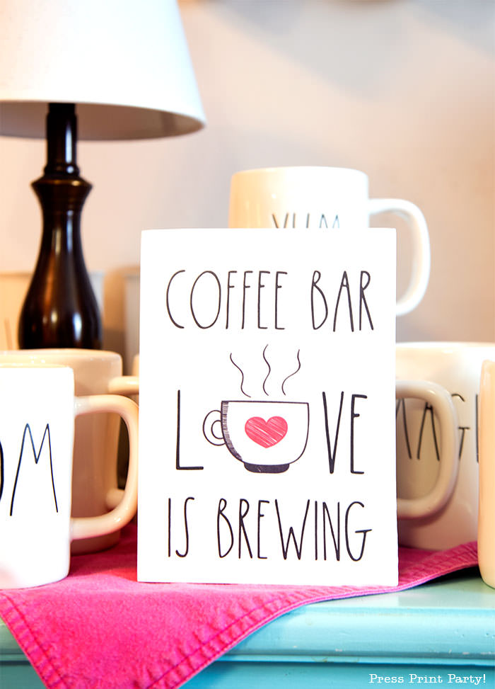 coffee bar wooden sign diy farmhouse love is brewing