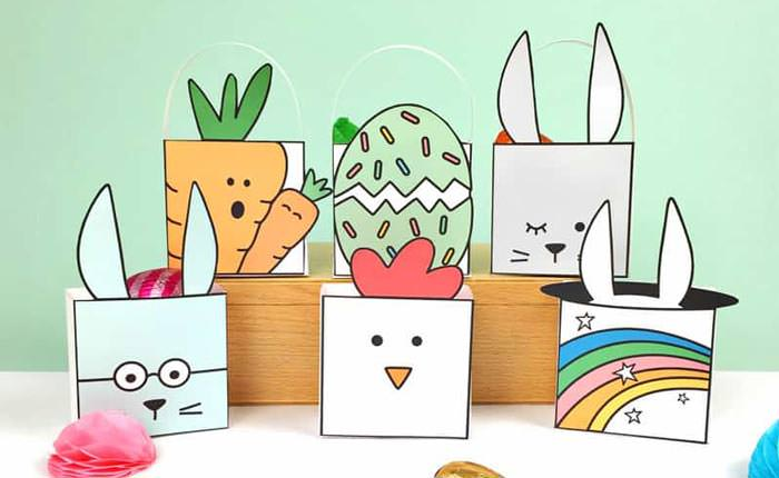 Easter free printable favor boxes
