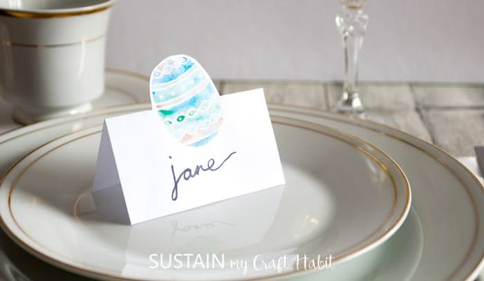 Easter free printable place card