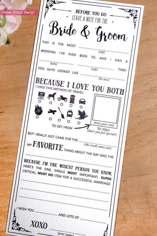 Wedding Mad Libs Printables, Star Wars Wedding