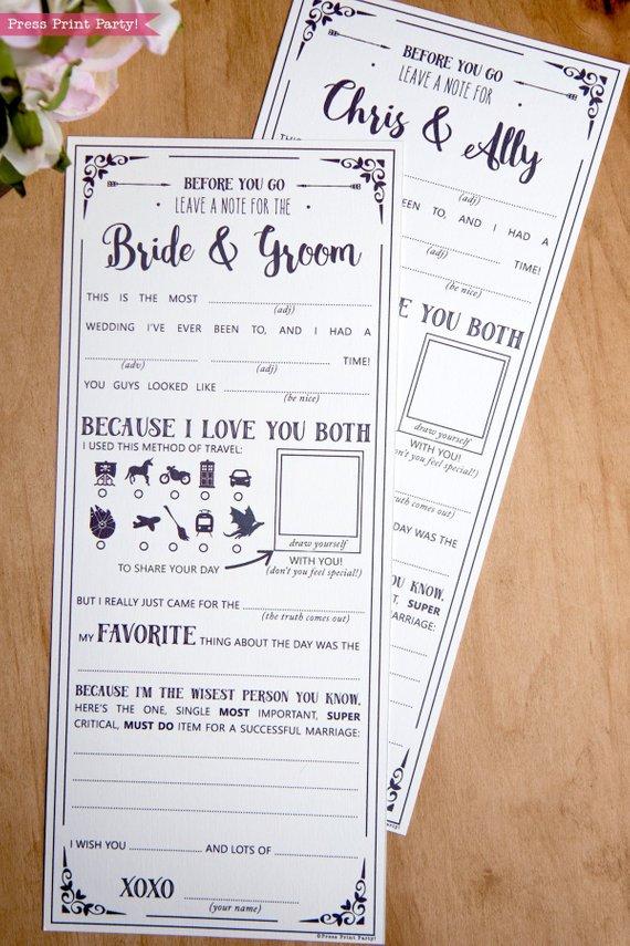 Wedding Mad Libs Printables, Star Wars Wedding