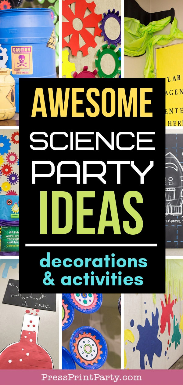 Science party ideas DIY Decorations and Activities -Press Print Party!