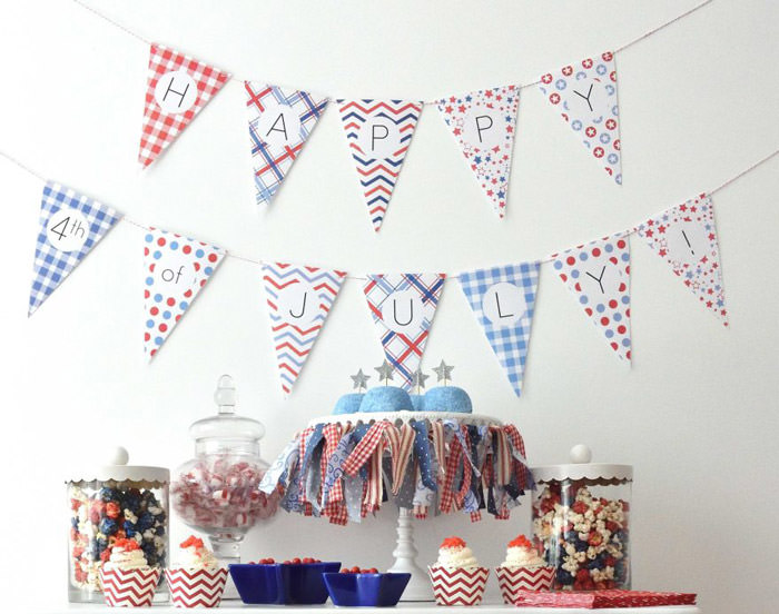 free 4th of july printable pennant