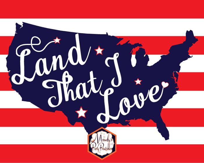 land that I love Us on stripes