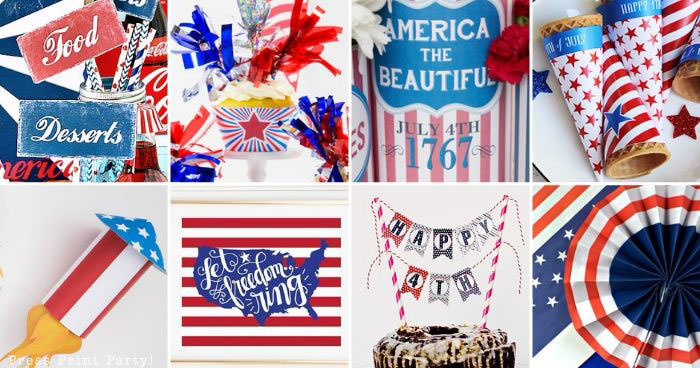 30 free 4th of July Printables for your party -Press Print Party!