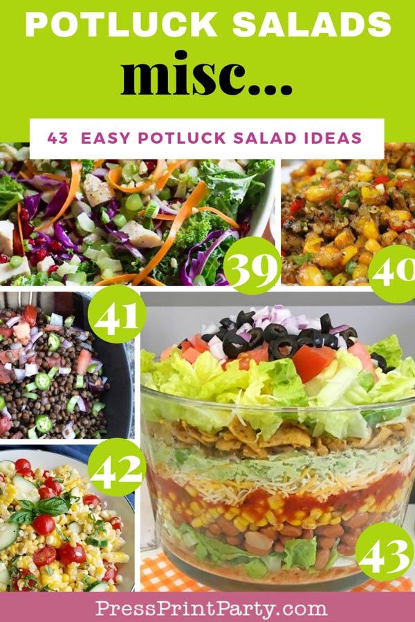 Potluck salads - 43 potluck salad ideas