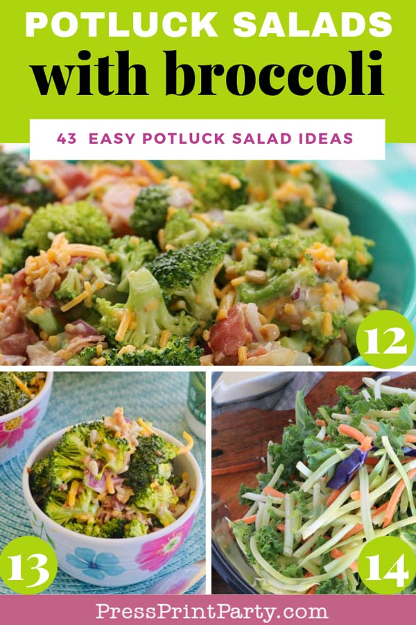 Potluck salads with broccoli - 43 potluck salad ideas