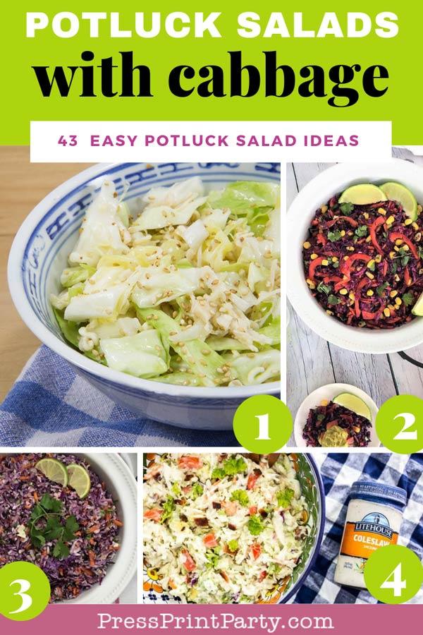 Potluck salads with cabbage- 43 potluck salad ideas