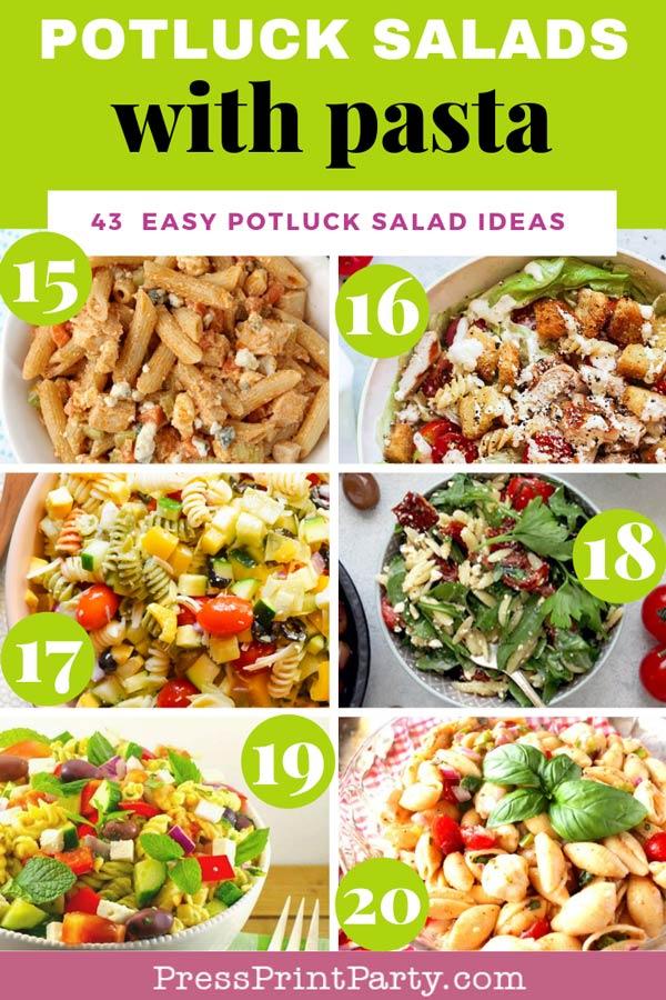 Potluck salads with pasta - 43 potluck salad ideas