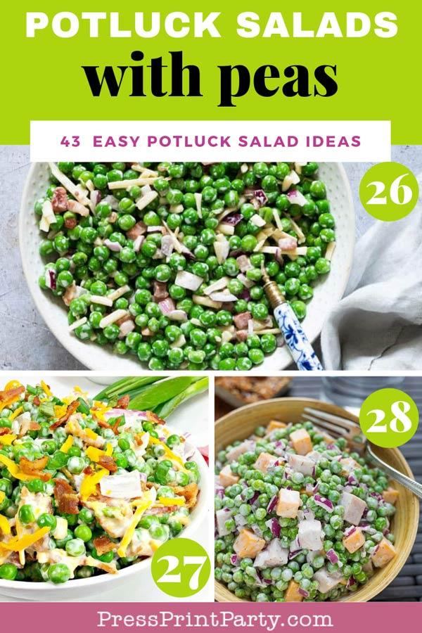 Potluck salads with peas - 43 potluck salad ideas