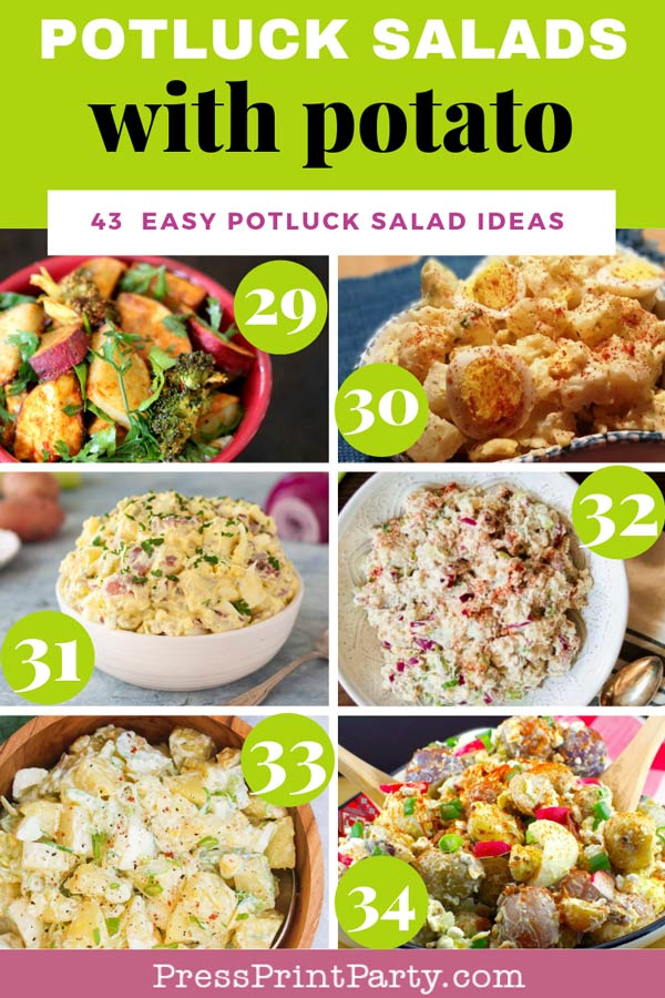 Potluck salads with potato - 43 potluck salad ideas