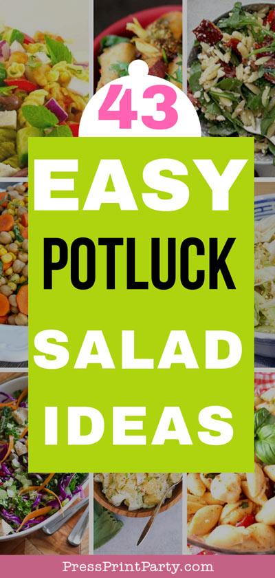 43 Easy potluck salad ideas