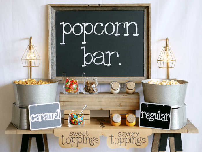 popcorn bar for party ideas