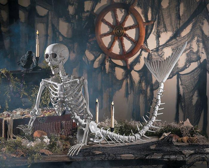mermaid skeletong spooky