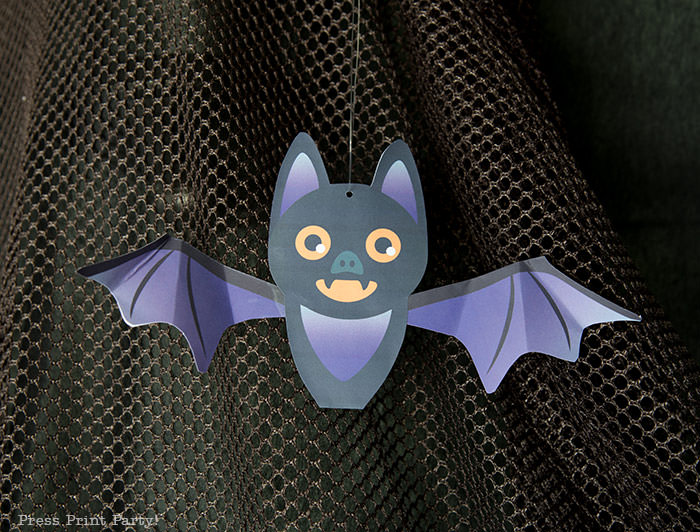 bat diy free printable for kids for halloween free printable - Press Print Party!