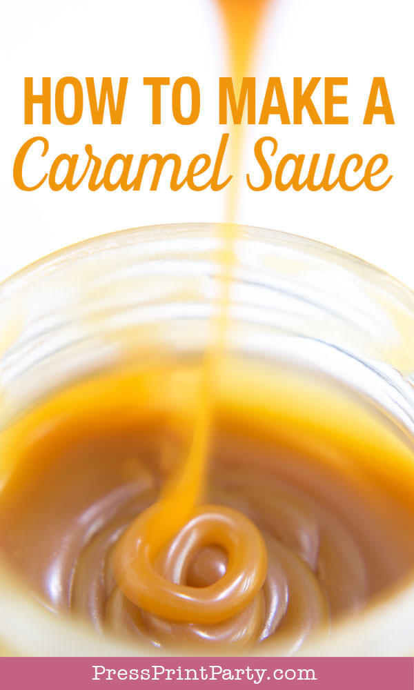 How to make a caramel sauce easy recipe for dip or toffee cake or pudding
