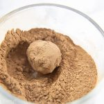 rolling chocolate truffle in cocoa powder. French Chocolate Truffles recipe - How to make chocolate truffles - Press Print Party!