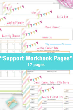 The ultimate birthday party planner and printable workbook. party planning checklist. for birthday parties. Kids birthday party or birthday party checklist for adults. template and guide. Event planner.
