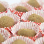 Lots of chocolate truffles in red wrappers. French Chocolate Truffles recipe - How to make chocolate truffles - Press Print Party!