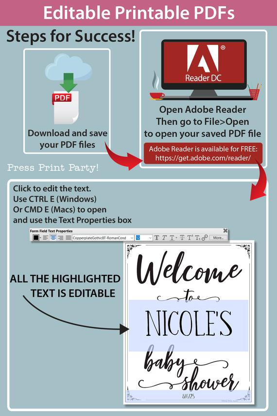 welcome to baby shower sign printable baby shower game pink flowers Press Print Party!