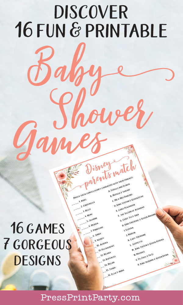 baby shower games ideas printable. Press Print Party!