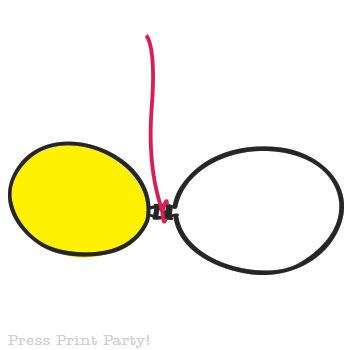 Organic Balloon garland diy tutorial step 2- Press Print Party!