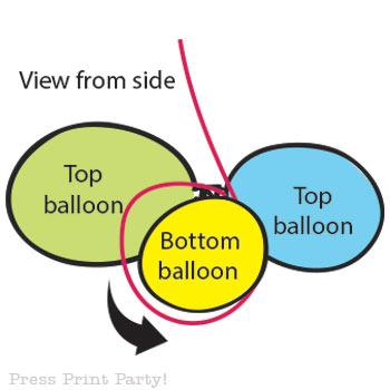 Organic Balloon garland diy tutorial step 6
