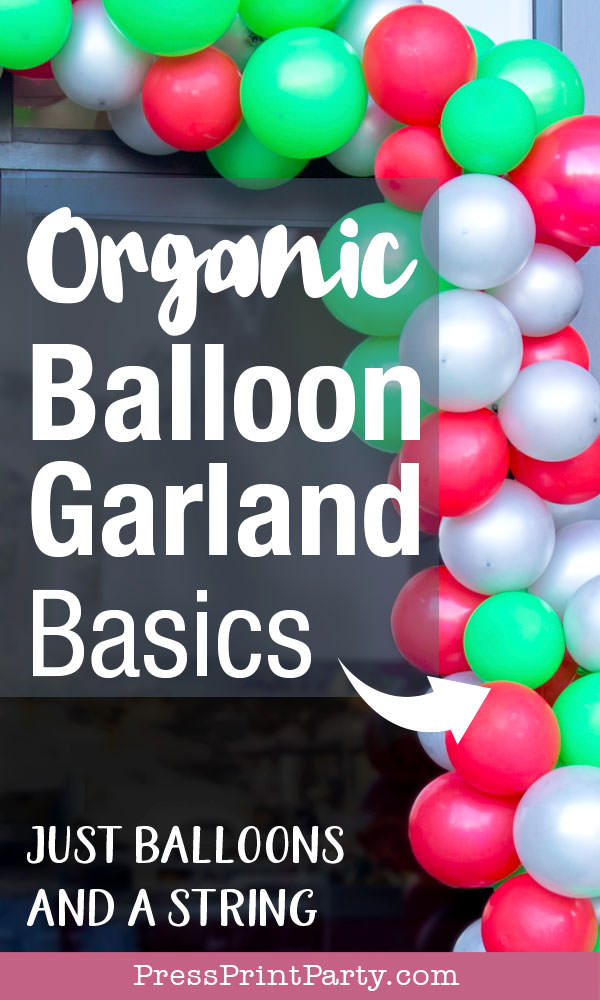 organic balloon garland diy tutorial how to make balloon garland just balloons and a string. Press Print Party