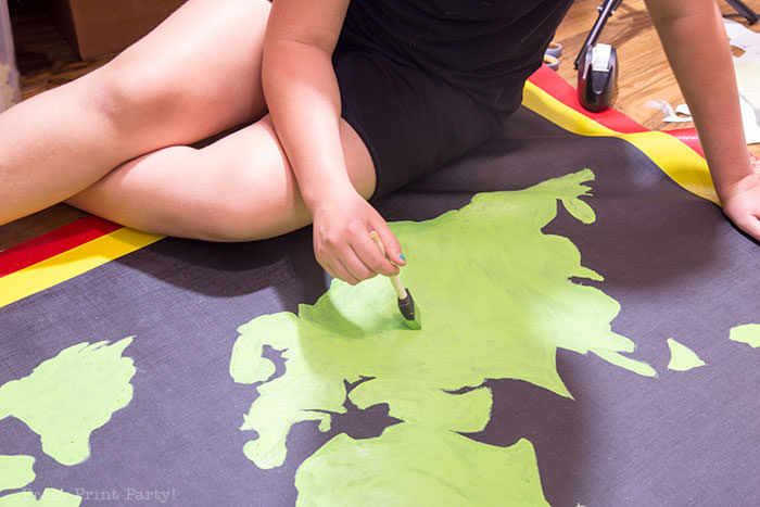 painting the amazing race pit stop mat Press Print Party!