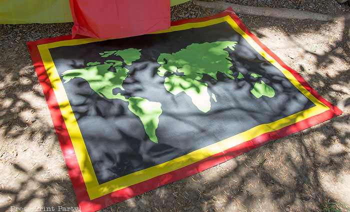 A homemade amazing race pit stop mat. Press Print Party!