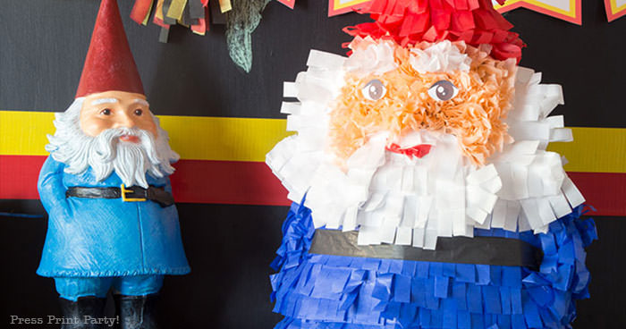 The amazing race party ideas - Roaming gnome pinata DIY - Press Print Party!
