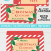 Christmas Coupon Book Printable Template, Gift Idea, Editable Blank Coupon Book, DIY Last Minute Gift Stocking Stuffer, INSTANT DOWNLOAD