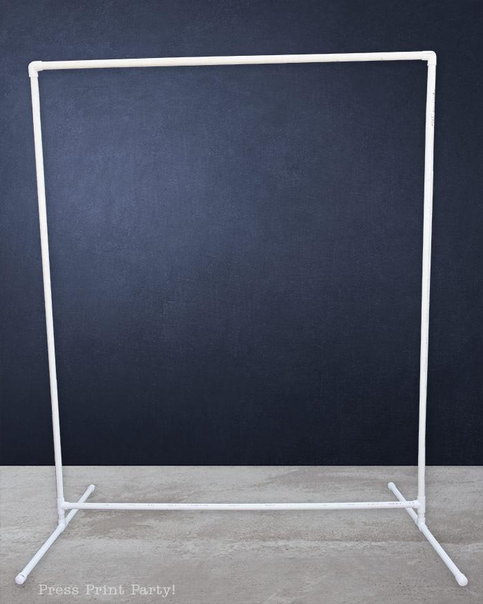 PVC Backdrop frame DIY assembled - Press Print Party!