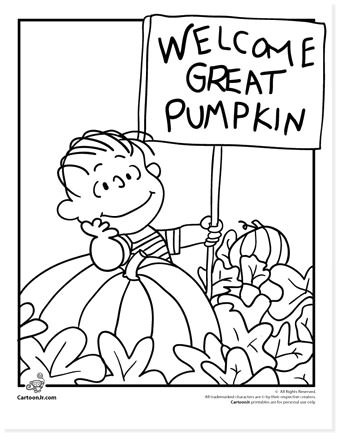 free halloween printable coloring sheets - website roundup - charlie brown coloring pages