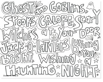 free halloween printable coloring sheets - website roundup - lettering coloring pages