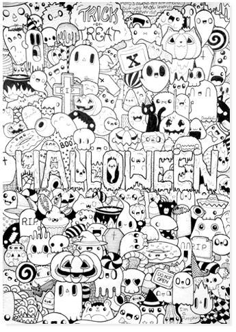 free halloween printable coloring sheets - website roundup - zentangle halloween