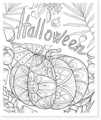 free halloween printable coloring sheets - website roundup - zentangle coloring pages