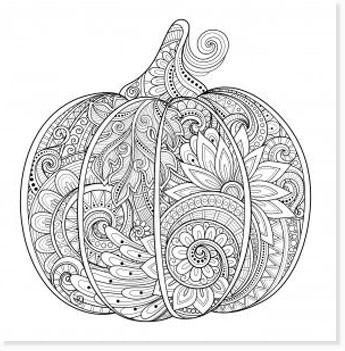 free halloween printable coloring sheets - website roundup - pumpkin zentangle coloring page