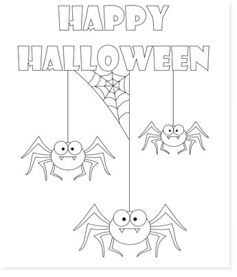 free halloween printable coloring sheets - website roundup - spider coloring pages