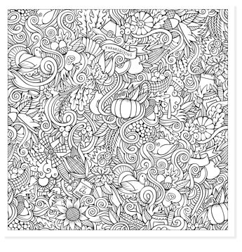 zentangle pumpkins coloring sheet for thanksgiving